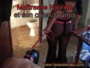 Ma&icirc_tresse Kalinka et son chien soumis