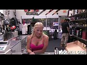 Excellent minx is shaking her ass while sex in shop