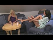 Lesbian couple enjoys themselves with sex toys