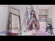 lelu love webcam striptease huge toe blister and masturbati
