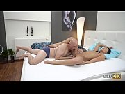 OLD4K Bald old man enjoys young mistress riding his phallus in bed