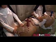 nun ass toyed by crucifix