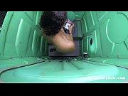 Porta Potty Gloryhole black girl Swallows
