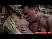 Captured sexslave subdued and throated