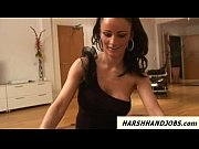 Sexy Mistress Jordan gives harsh handjob