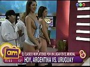 Valeria Degenaro &amp_ Pamela Paiva en bodypainting