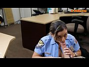 Huge booty officer pounded by pawn guy