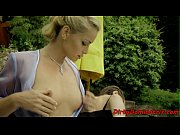 European domina gets fingered outdoors