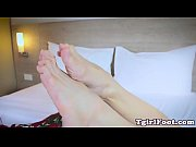 barefeet ladyboy goddess flexing tiny feet