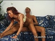 Red-hair women fucked on couch