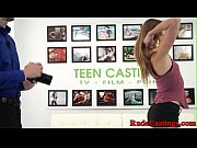 Smalltit teen fucked at brutal casting