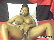 Busty Ebony Whore Teases Her Body
