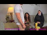 Catholic Nun fucks MILF mom and son . Madisin Lee in Nun Professor Pays a Visit