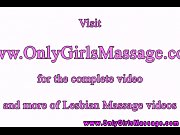 Hot lesbo masseuse rubs clients pussy