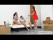 teen girlfriend shares her boyfriends cock with her stepmom
