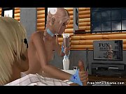Foxy 3D cartoon blonde babe tugging a studs cock