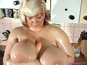 big breasts babe squizing hard