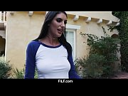 stepsister august ames gives aggressive blowjob to stepbrother.