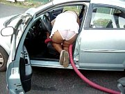Clean the car white panties 2