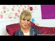 English milf Gabby Fox gets naughty in candy pink boots