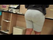 Awesome donk in gray shorts