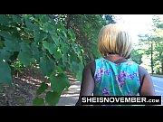 Msnovember Ebony Teen Babe Blowjob In Street Sloppy Head