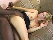 Celestine the daring blonde that welcomes a massive black cock against her walls