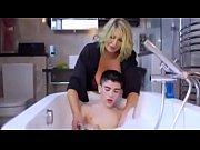 Young boy fucks a milf in her bathroom