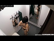 Czech Brunette Teen Spied With Security Cam