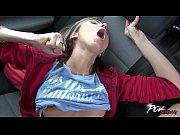 Multiorgasmic slut Gina Gerson ride stranger in car for her pleasure