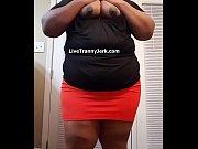 Chubby Crossdresser Teasing