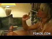 Busty hottie wet smoking scene