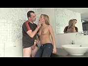 thumb blonde russian girl fucking on the bathroom