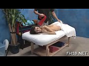 Hot and sexy eighteen year old babe gets fucked hard from behind from her massagist