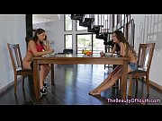 Lesbian teen pussylicked by stunning stepmom