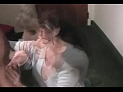 Debbie Leigh gives blowjob and gets a cumshot
