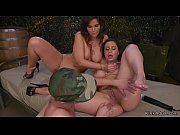 Lesbian soldier anal toyed and fisted
