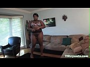 chubby casting tgirl cocksucks while wanking