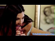 Massage loving teen gives sensual blowjob