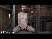 Naughty tied up serf receives pounderous caning
