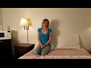 seedy hotel room first time amateur blonde hottie with a big pink dildo