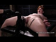 Chubby slave whipped and caned