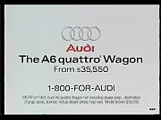 1996 Audi Quattro commercial nylon feet big car dismount