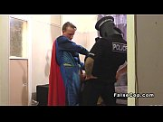 Masked fake cop and superman bang babe