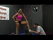 Personal Trainer Makes Him Lick Her Asshole - Femdom