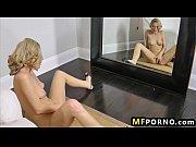 Horny blonde masturbates on her bed alone Scarlett Fay 3