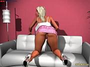 3D blonde hottie in pink mini skirt
