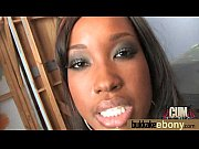 Naughty black wife gang banged by white friends 5