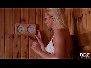 Serbian sauna lover Cherry Kiss sucks a Dick in a Gloryhole