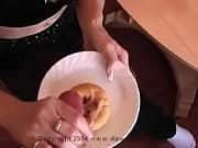 cum on food - glazed donut